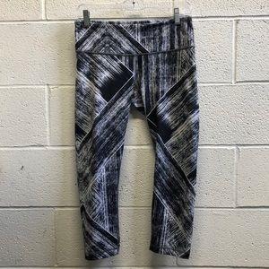 Lululemon black and white legging, sz 8, 62642